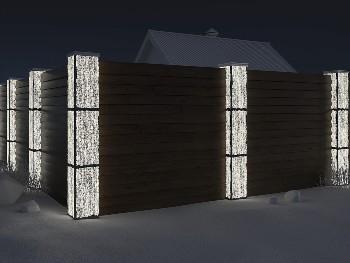 прозрачный бетон забор
