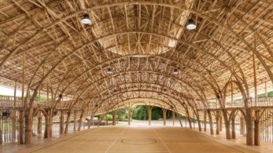 Спортивный зал из бамбука