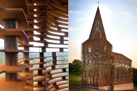 Прозоачная церковь в Бельгии