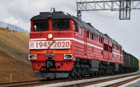 На Крымском мосту грузовое движение ЖД составов