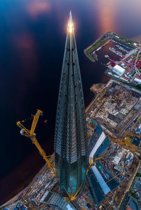 Строительство Лахта Центра
