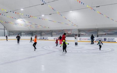 Хоккейная площадка с искусственным льдом